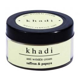 Khadi Herbal Cream - Anti wrinkle with Saffron & Papaya
