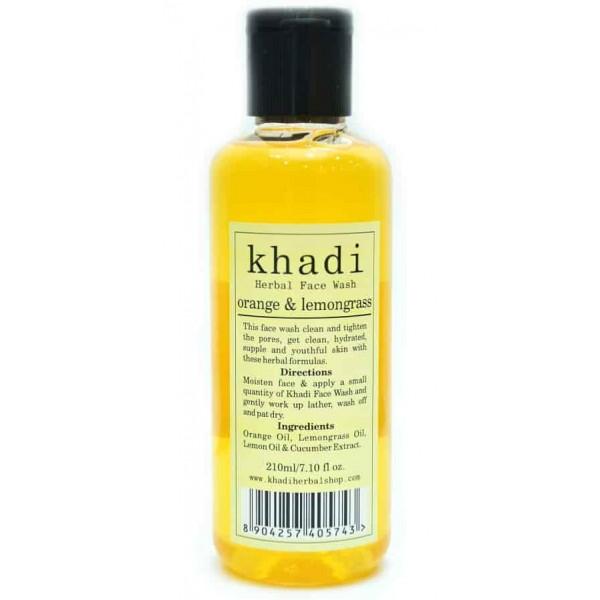 Khadi Herbal Orange Lemongrass Face Wash Buy Online At Low